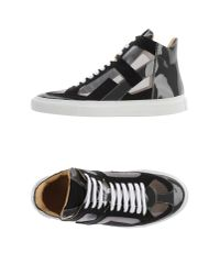 MM6 by Maison Martin Margiela - Black High-tops & Trainers - Lyst