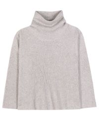 The Row - Gray Kaima Cashmere And Silk Turtleneck Sweater - Lyst