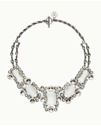 Ann Taylor | Metallic Opal Stone Statement Necklace | Lyst