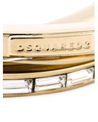 DSquared² - Metallic Embellished Triple Bangle - Lyst