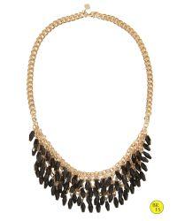 Banana Republic | Black Factory Bauble Bib Necklace | Lyst