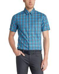 BOSS Green   Blue 'c-bowa'   Regular Fit, Cotton Button Down Shirt for Men   Lyst