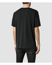 AllSaints - Black Words Crew T-shirt for Men - Lyst