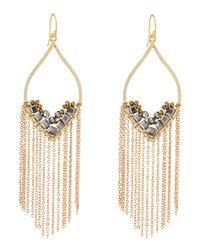 Panacea - Metallic Hematite Chain Fringe Drop Earrings - Lyst
