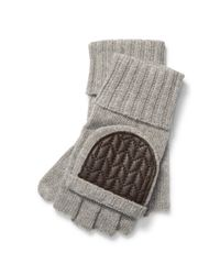 Ralph Lauren | Gray Wool-blend Fingerless Gloves | Lyst