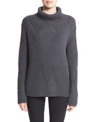 Rag & Bone | Gray 'blithe' Merino Wool Turtleneck Sweater | Lyst