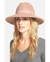 Halogen | Pink 'luxe' Felt Panama Hat | Lyst