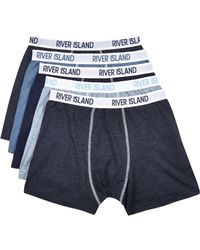River Island | Blue Ri Boxer Shorts Pack for Men | Lyst