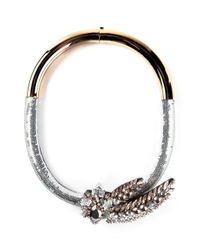 Shourouk - Metallic 'Aigrette Comet' Necklace - Lyst