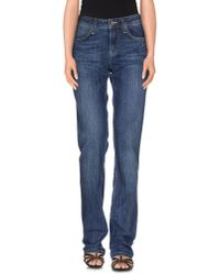 Burberry Brit - Blue Denim Trousers - Lyst