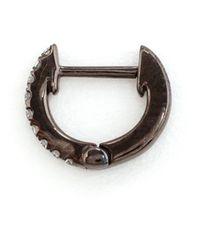 Rosa De La Cruz | Black Small Hoop Diamond Earrings | Lyst
