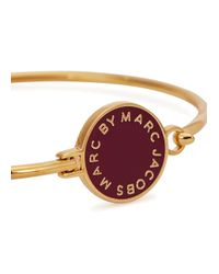 Marc By Marc Jacobs - Red Logo Disc-o Burgundy Enamel Bracelet - Lyst