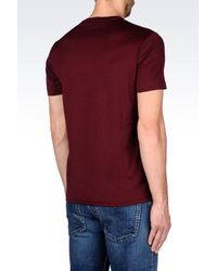 Emporio Armani | Purple Short-sleeve T-shirt for Men | Lyst