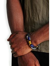 Nialaya | Blue Beaded Bracelet for Men | Lyst
