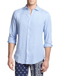Polo Ralph Lauren | Blue Estate Linen Sportshirt for Men | Lyst
