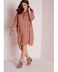 ba2d900c4eb5b Missguided Plus Size Oversized T-shirt Dress Pink in Pink - Lyst
