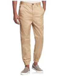 Guess - Brown Chintz Twill Cargo Pants for Men - Lyst