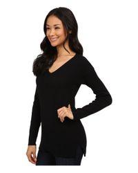 Calvin Klein Jeans | Black Chevron Texture U-neck | Lyst