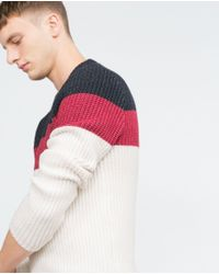 Zara | Gray Pearl Knit Sweater for Men | Lyst