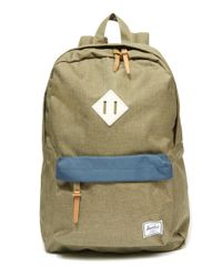 Herschel Supply Co. - Green Khaki Heritage Backpack - Lyst