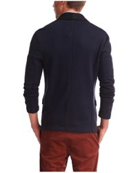 BOSS Orange - Blue Cotton Sweatshirt Jacket 'wictoro' for Men - Lyst