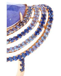 "Shawn Ames - One-Of-A-Kind ""Rainbow Four Row"" Tanzanite And Blue Sapphires Ring - Lyst"