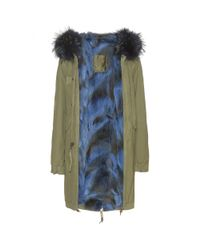 Mr & Mrs Italy - Green Pacoy Fur-trimmed Cotton Parka - Lyst