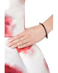 Lynn Ban | Black Rhodium And Silver Bracelet With Black Diamonds | Lyst