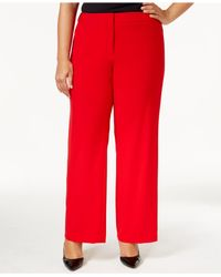 Lyst - Calvin Klein Plus Size Dress Pants in Red
