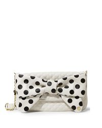 Betsey Johnson | White Dots Enough Quilted Clutch | Lyst