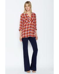 Joie - Red Nelia Plaid Shirt - Lyst