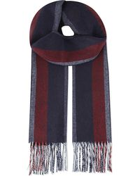 Johnstons - Blue Cashmere Scarf for Men - Lyst
