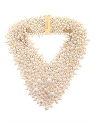Rosantica | Metallic Osiris Riverpearl Necklace | Lyst