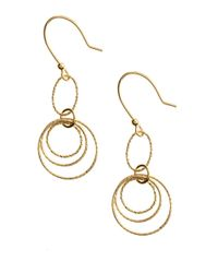 Lord & Taylor | Metallic 18 Kt. Gold Over Sterling Silver Textured Orbital Drop Earrings | Lyst