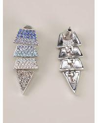 Eddie Borgo | Blue Pavé Scaled Triangle Earrings | Lyst