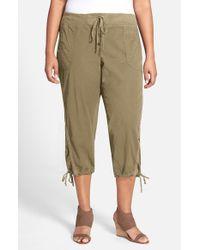 XCVI | Green Xcvi Drawstring Tie Capri Pants | Lyst