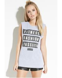 Forever 21 - Gray Civil Fitness Fashion Muscle Tee - Lyst