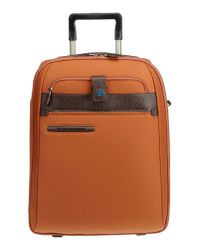 Piquadro - Brown Wheeled Luggage for Men - Lyst