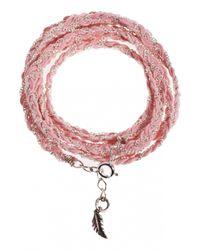 Only Noa Chez Carré Y. | Pink Pastel Braided Bracelet | Lyst