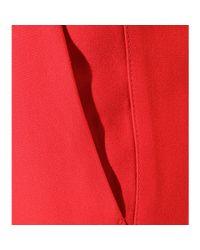 Miu Miu - Red Cropped Crepe Trousers - Lyst