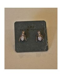 Tai | Metallic Antique Gold Ant Earring | Lyst