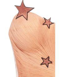 Maria Lucia Hohan - Orange Etoile Metallic Corset Star Top - Lyst