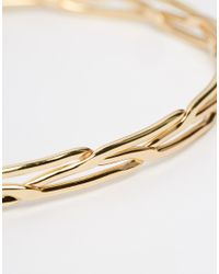 Asos Curve | Metallic 70s Open Cuff Bracelet | Lyst