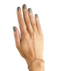 Ela Rae | Metallic Sosi Garnet Hand Chain Bracelet | Lyst