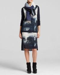 DKNY - Blue Pure Smudge Print Dress - Lyst