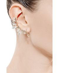Fallon | Metallic Microspike Crystal Ear Cuff | Lyst