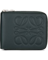 Loewe | Calf-leather Bi-fold Wallet, Women's, Dark Green | Lyst