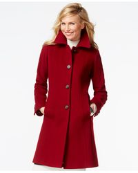 Anne Klein | Red Wool-cashmere Walker Coat | Lyst
