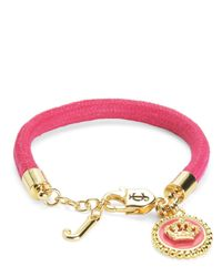 Juicy Couture | Pink Status Coin Bracelet | Lyst