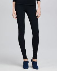 Ralph Lauren Collection   Heavy Jersey Leggings Black   Lyst
